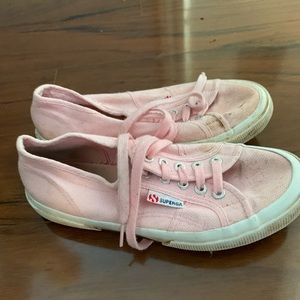 Pink superga sneakers